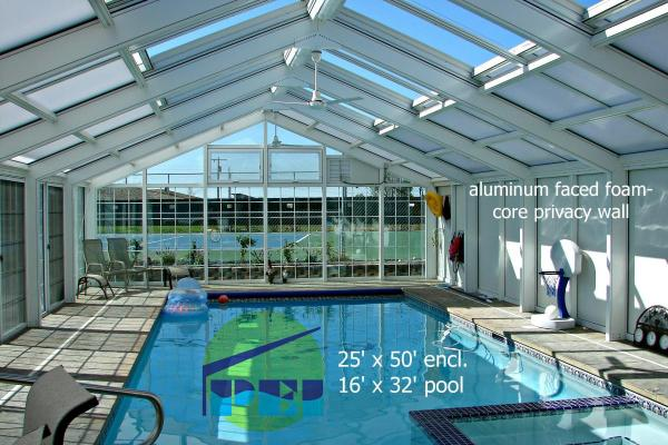 Residential Swimming Pool Enclosure Gable Shaped