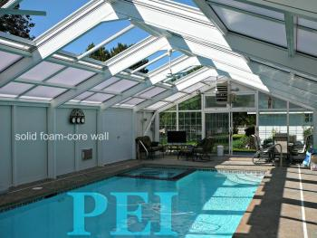 Glass roof panels cheap this summerus project an for Plexiglass pool enclosure