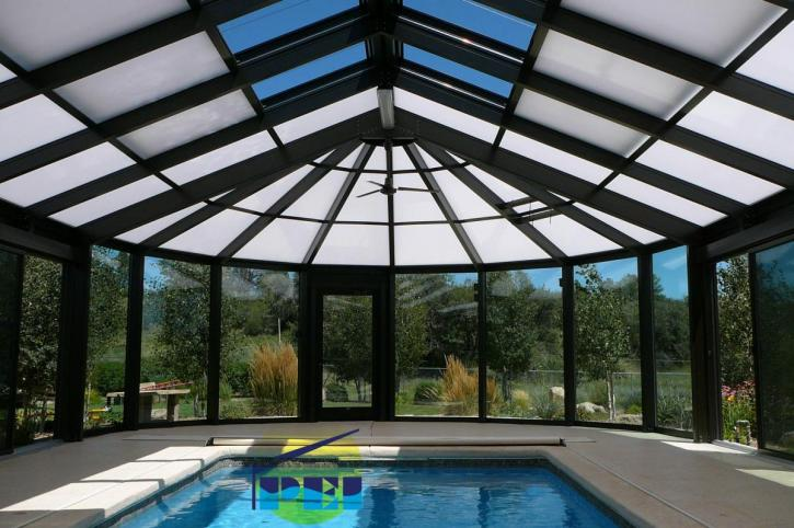 Movable roof retractable roof 2 Retractable swimming pool enclosures