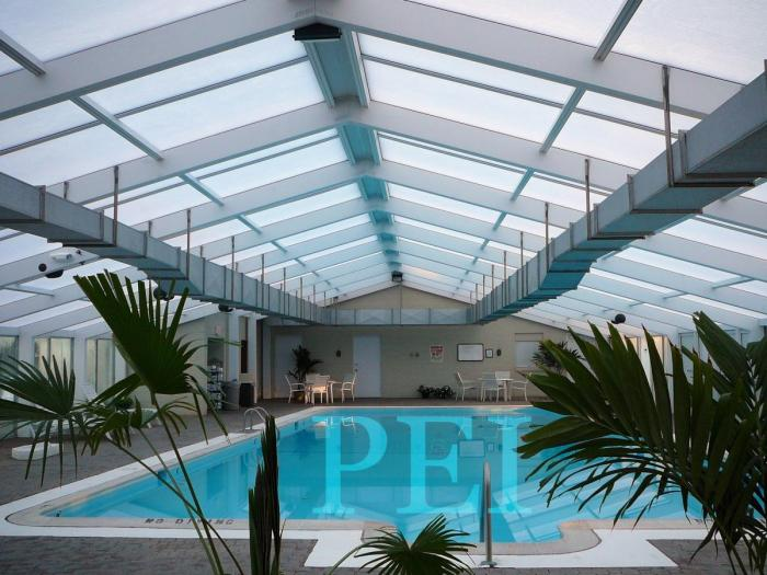Residential 37u0027 X 67u0027 Freestanding Swimming Pool Enclosure With Motorized  Sliding Roof ...