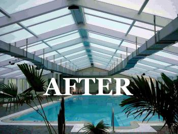 Pool Enclosure Roof Reglaze Repairs Ibg Hail Damaged