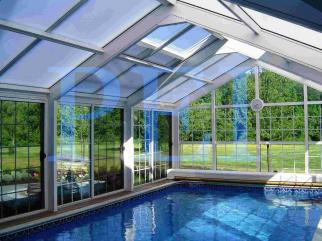 Minnesota pool enclosures mn pool domes residential for Year round pool residential