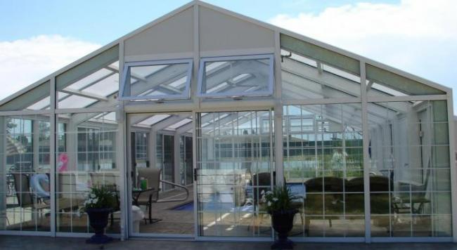 Pool Enclosure Gable End Exteriors With Tempered Insulated
