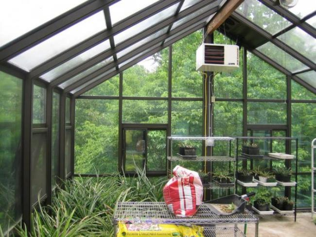 Gable Attached Straight Eave Greenhouse