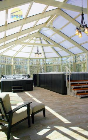 Conservatory Pool Enclosure Interior Glass Roof