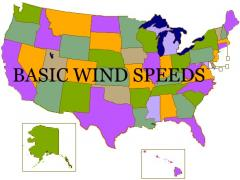 Misc Building Codes Basic Wind Speed Chart Ground Snow
